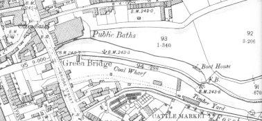 Stafford canal wharf, 1900, OS 1:2500 plan