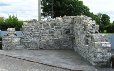 The memorial to the families of the Gerrard eviction, Ballinlass