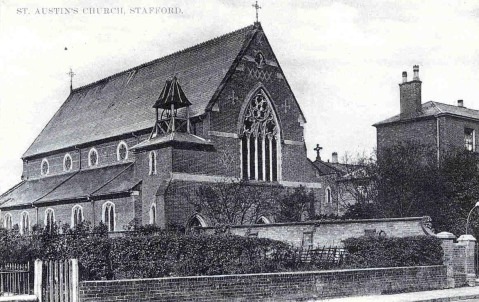St Austin's Church, Stafford, designed by Edward Pugin and opened in 1862.