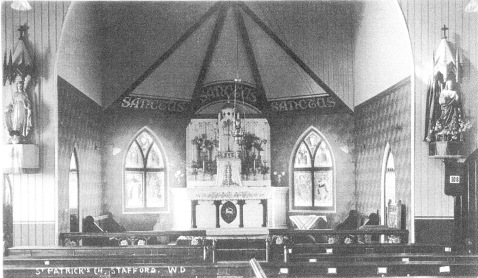 Fr. James O'Hanlon's legacy: the interior of St Patrick's 'iron church' erected in 1895. (courtesy of Mary and the late Roy Mitchell)