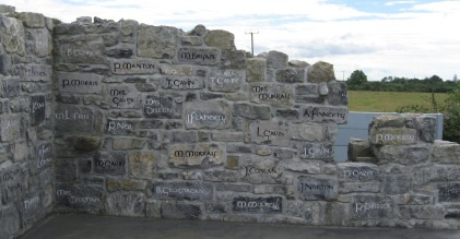 Eviction during the Famine: the memorial to the victims of the Gerrard eviction at Ballinlass, 1846