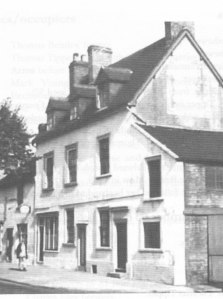 62 Foregate Street. Built around 1698, this grand house was divided in the 19th century and the left hand end was continuously used as a lodging house. The right hand side was the Dewdrop Inn from 1860-1910 (Picture from J. Connor, The Inns & Alehouses of Stafford: through the North Gate, 2014)